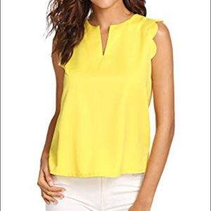 Maeve Tops - Anthropologie Maeve Scallop Top